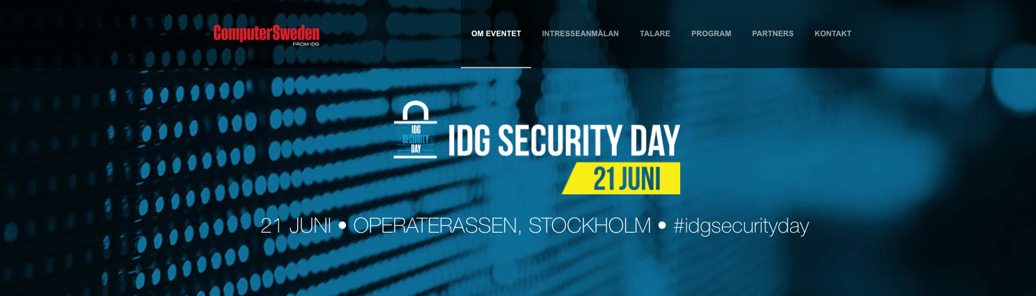 Möt Softronic på IDG – Security Day 21/6